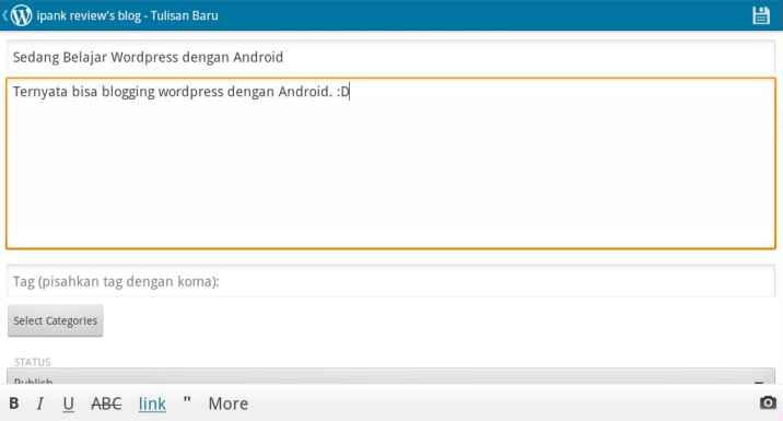 Posting WordPress Android